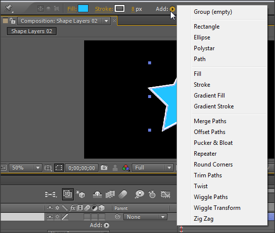how to add a solid layer n after effects